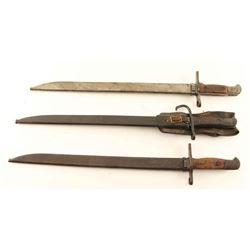 Lot of 3 Arisaka Bayonets