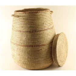 Large Papago Basket with Lid