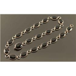 Sterling Silver & Onyx Belt