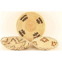 Lot of 3 Papago Baskets