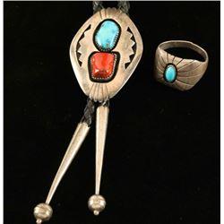 Navajo Bolo & Mens Ring