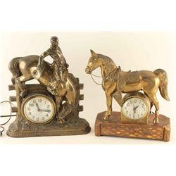 Lot of 2 Western Clocks &1 Radio