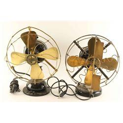 Lot of 2 Vintage Fans