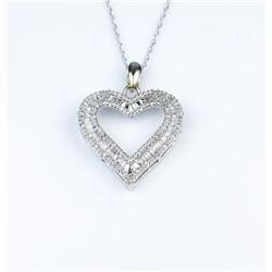 Romantic Heart Shaped Diamond Pendant
