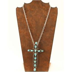 Navajo Sterling & Turquoise Cross