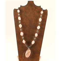 Artisan Made Rose Quartz Necklace