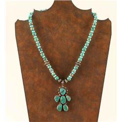 Ladies Turquoise Beaded Necklace