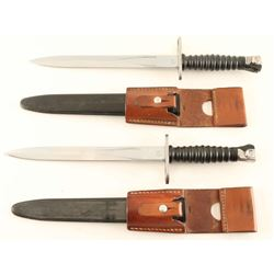 Lot of 2 Swiss Bayonets with Sheaths