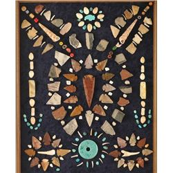 Framed Indian Artifacts & Arrowheads