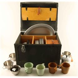 WWII US Army Officer's Field Mess Kit