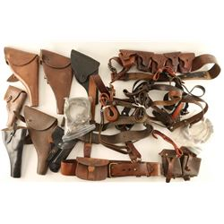 Lot of British Holsters & Misc. Leather