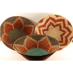 Lot of 3 Southwest Baskets