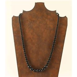 Dark Blue Tigers Eye and Onyx Beaded Necklace