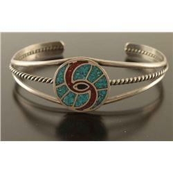 Vintage Navajo Inlaid Cuff