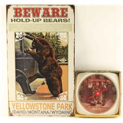 Repro Vintage Yellowstone Park Sign