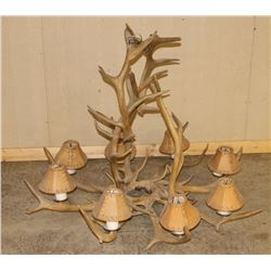 Large Elk Rack Chandelier