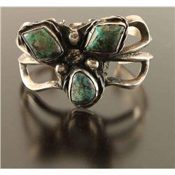 Vintage Navajo Turquoise & Silver Bracelet