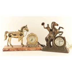 Lot of 2 Western Clocks