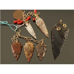 Lot of Arrowhead Pendants