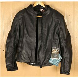 Ladies Leather Touring Jacket with Body Armor