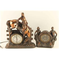 Lot of 2 Western Clocks