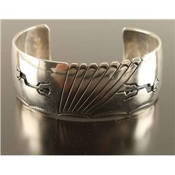 Old Pawn Navajo Made Sterling Cuff