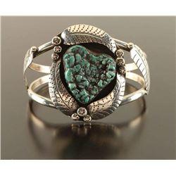 Vintage Navajo Made Turquoise & Sterling Bracelet