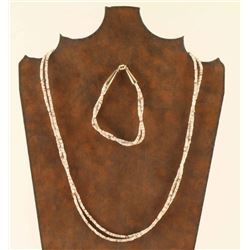 Double Strand Heishi Necklace & Bracelet