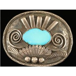 Navajo Mens Turquoise Belt Buckle