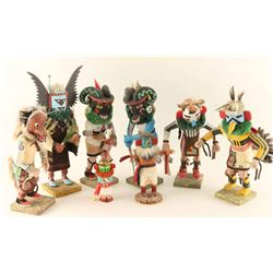 Lot of 8 Kachinas