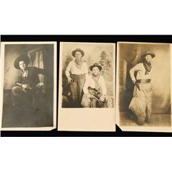 Lot of 3 Old West Postcards