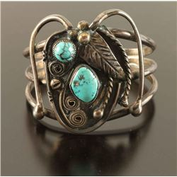 Vintage Old Pawn Navajo Natural Turquoise & Silver