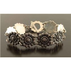 Vintage Silver Filigree Tennis Bracelet