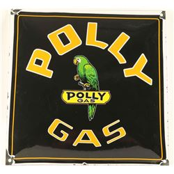 Vintage Poly Gas Porcelain Advertising Sign
