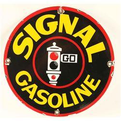Vintage Signal Gasoline Porcelain Advertising Sign