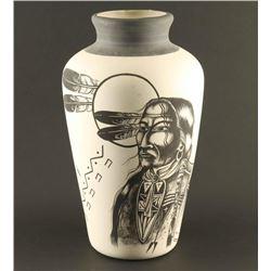 """Cheyenne Warrior"" Vase"