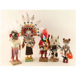 Lot of 5 Navajo Kachinas