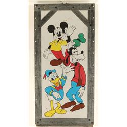 Metal Sign with Disney Characters