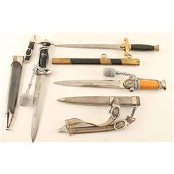 Lot of 3 Nazi Repro Daggers