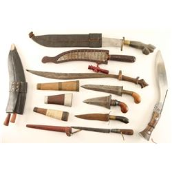 Lot of 8 Ethnic Knives