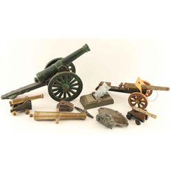 Lot of Mini Cannons & Mini Tanks