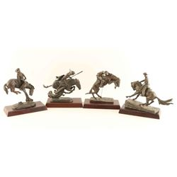 Lot of 4 Small Frederic Remington Bronzes