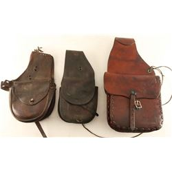 Lot of 3 Saddle Bags