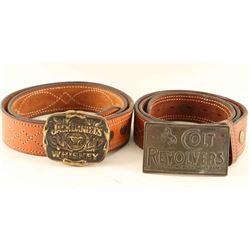 Lot of 2 Belts & Buckles