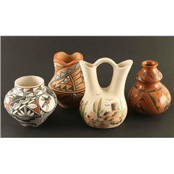 Lot of 4 Small Native American Pots