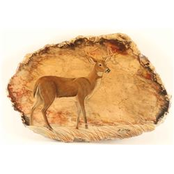 Whitetail Deer on Petrified Wood