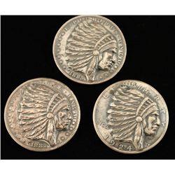 (3) Restriked Silver Dollars