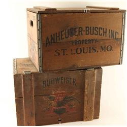 Lot of Budweiser Crates