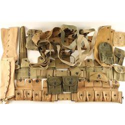 Lot of US WWI-WWII Web Gear