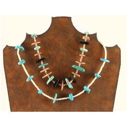Lot of 2 Pueblo Necklaces